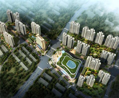 海景明珠新城及其大型购物中心